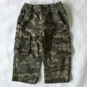 Camouflage pants size 18 24 months boys cotton EUC